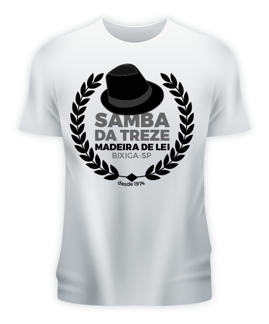 Camiseta Logo Samba da Treze Branca