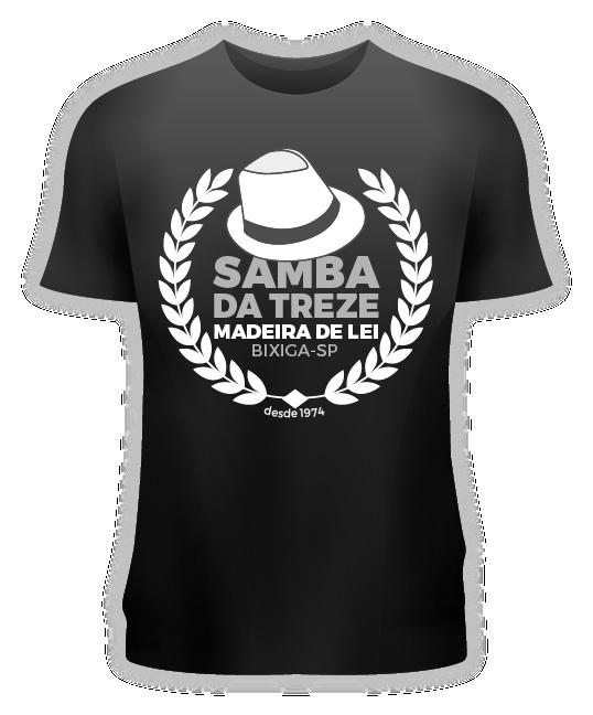 Camiseta Logo Samba da Treze Preta